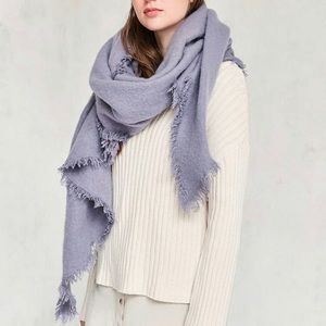 Urban outfitters purple oversized blanket scarf